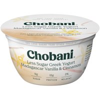 Chobani Less Sugar Greek Yogurt, Madagascar Vanilla Cinnamon 5.3oz product image