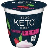 :ratio KETO Yogurt,Black Cherry, 5.3ozcup product image