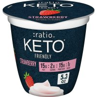 :ratio KETO Yogurt Cultured Dairy Snack,Strawberry, 5.3ozcup product image