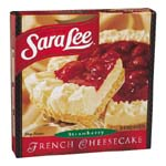 Sara Lee Cheesecake French Strawberry 26oz. PKG product image