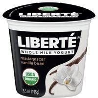 Liberte Organic Yogurt, Indonesian Vanilla Bean Whole Milk Yogurt, 5.5 oz product image