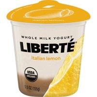 Liberte Lemon Organic Whole Milk Kosher Dairy Yogurt, 5.5 oz product image