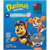 Danimals Cotton Candy Squeezable Yogurt, 3.5 Oz. Pouches, 4 Count product image