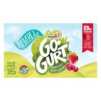 Yoplait Simply Go-Gurt Yogurt, Mixed Berry/Strawberry 16ct. product image