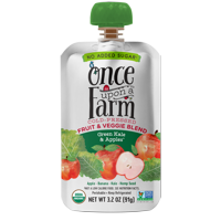 Once Upon a Farm Organic Green Kale & Apples Fruit & Veggie Blend, 3.2 oz Pouch product image