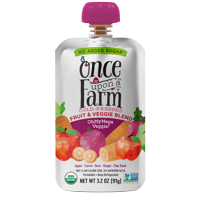 Once Upon a Farm Organic OhMyMega Veggie! Fruit & Veggie Blend, 3.2 oz Pouch product image