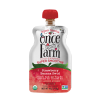 Once Upon a Farm Organic Strawberry Banana Swirl Super Smoothie, 4 oz product image