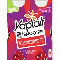 Yoplait Lowfat Yogurt Beverage Strawberry 4ct product image