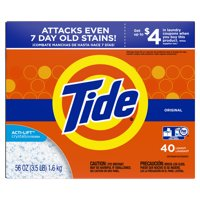 Tide Powder Laundry Detergent, Original, 40 Loads, 56 oz product image