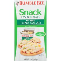 Bumble Bee Snack on the Run  Fat Free Tuna Salad with Wheat Crackers 3.5 oz. PKG product image