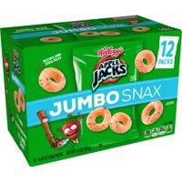 Kellogg's Apple Jacks Jumbo Snax, Cereal Snacks, Original, 12 Ct, 5.4 Oz product image