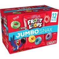 Kellogg's Froot Loops Jumbo Snax, Cereal Snacks, Original, 12 Ct, 5.4 Oz product image