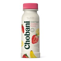 Chobani Greek Yogurt Drink with Probiotics, Strawberry Banana 7oz product image