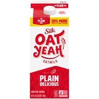 Silk Oat Yeah The Plain One Oatmilk, Half Gallon product image