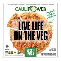 CAULIPOWER Veggie Cauliflower Crust Pizza, 10.9 oz (Frozen) product image