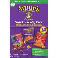 Annie's Variety Pack, Cheddar Bunnies, Bunny Grahams, Cheddar Squares, 12 ct product image