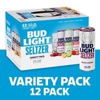 Bud Light Seltzer Variety Pack, Gluten Free Hard Seltzer, 12 Pack, 12 FL OZ Slim Cans, 5% ABV product image