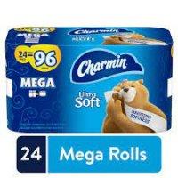 Charmin Ultra Soft Mega 24ct Toilet Paper product image