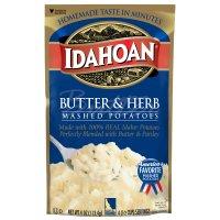 Idahoan Mashed Potatoes Butter & Herb 4oz PKG product image