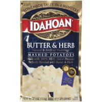 Idahoan Mashed Potatoes Butter & Herb 4oz PKG product image
