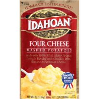 Idahoan Mashed Potatoes Four Cheese 4oz PKG product image