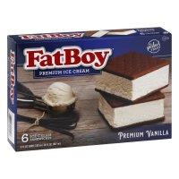 FatBoy Ice Cream Sandwiches, Premium, Vanilla product image
