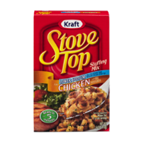 Stove Top Stuffing Mix Lower Sodium Chicken 6oz Box product image