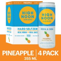 High Noon Pineapple Vodka Hard Seltzer 4pk 355ml Cans product image