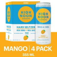 High Noon Mango Vodka Hard Seltzer 4pk 355ml Cans product image