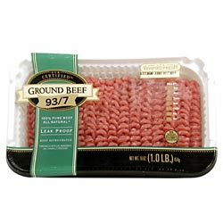 Ground Beef 93% Lean 1LB PKG product image