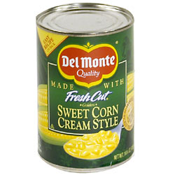 Del Monte Fresh Cut Sweet Corn Cream Style 14.7oz Can product image
