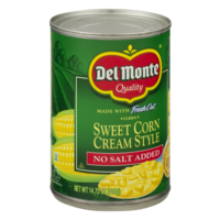 Del Monte Fresh Cut Sweet Corn Cream Style No Salt Added 14.7oz. product image
