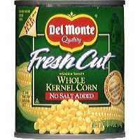 Del Monte Fresh Cut Sweet Corn Whole Kernel No Salt Added 8.75oz product image
