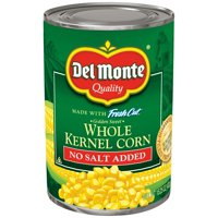 Del Monte Fresh Cut Sweet Corn Whole Kernel No Salt Added 15.2oz product image