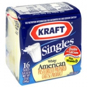 Kraft Cheese White American Singles 16CT 12oz PKG product image