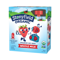 Stonyfield Whole Milk Strawberry-Beet-Berry Yogurt 4PK 3.5oz Pouches product image