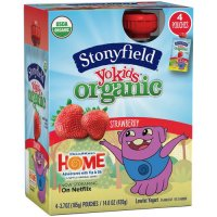 Stonyfield Kids Organic Strawberry Yogurt 4PK 3.5oz Pouches product image