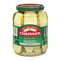 Claussen Pickles Dill Kosher Halves 32oz Jar product image