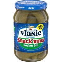 Vlasic Snack-MMs Pickles Kosher Dill 16oz Jar product image