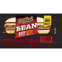 Ball Park Lean Beef Franks Bun Size 8CT Hot Dogs 14oz PKG product image
