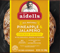 Aidells Chicken Burgers Pineapple & Jalapeno 2CT 12oz product image