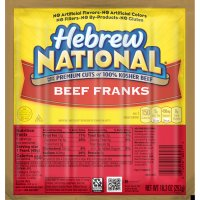 Hebrew National Franks Beef 6CT 10.3oz PKG product image