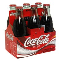 Coke Classic 6 Pack of 8oz Classic Glass Bottles product image