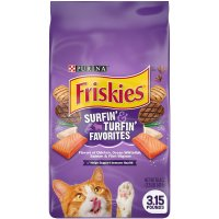 Friskies Favorites Surfin & Turfin Dry Cat Food 3.15LB Bag product image