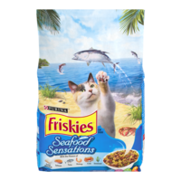 Friskies Seafood Sensations Dry Cat Food 3.15LB Bag product image