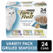 Fancy Feast 3 Flavor Variety Pack Grilled Seafood 24CT of 3oz Cans 72oz PKG