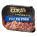 Curly's Sauceless Pulled Pork Naturally Hickory Smoked and Seasoned 12oz Tub product image