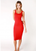 THE KRISTEEN BODYCON DRESS RED *SIZES SMALL AND MEDIUM* PLEASE SPECIFY SIZE IN THE NOTES