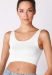 MARCE CROP WHITE *SIZE SMALL*