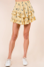 FLORAL DREAMING SKIRT YELLOW XS/S/M/L *PLEASE SPECIFY SIZE IN NOTES*